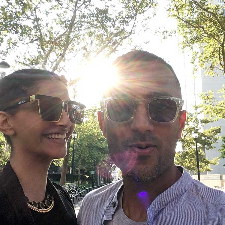 Sonam Kapoor chilling with Anand Ahuja at Wharton School of Business