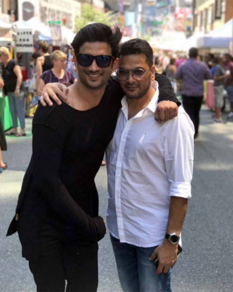Sushant Singh Rajput with Mukesh Chhabra in New York city