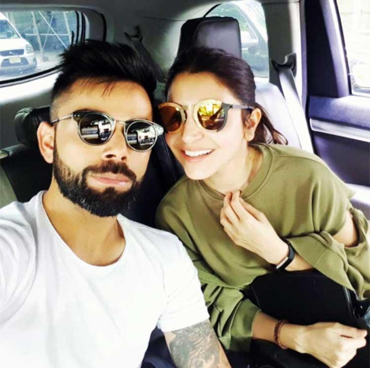 Virat Kohli's cute selfie with Anushka Sharma