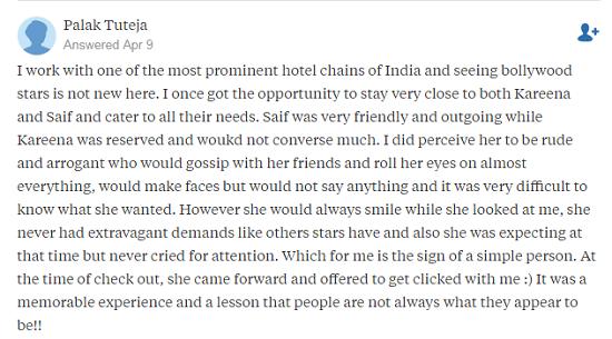 Quora, what is it like to meet Kareena Kapoor