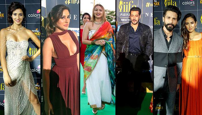 Disha Patani, Nargis Fakhri, Sonakshi Sinha, Salman Khan, Shahid Kapoor and Mira Rajput.