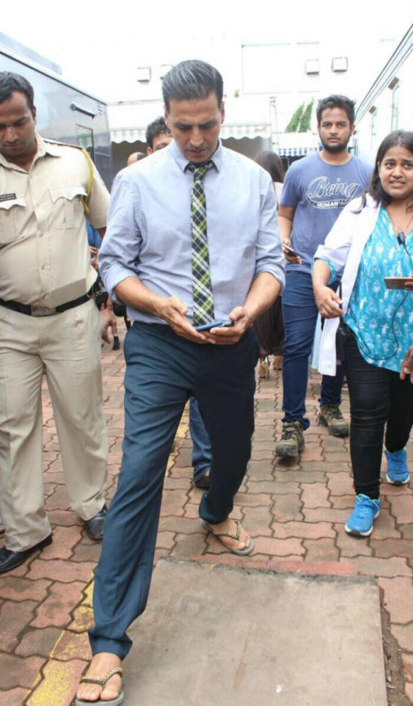 Akshay Kumar on the promotions of Toilet Ek Prem Katha