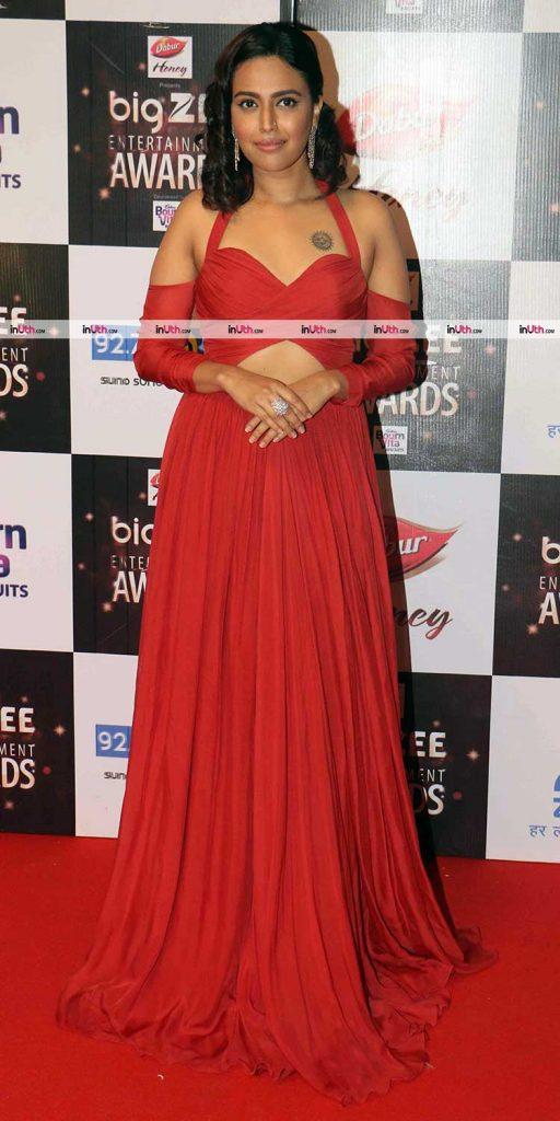 Swara Bhaskar at Big Zee Entertainment Awards 2017