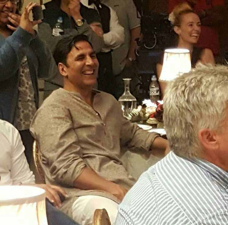 Akshay Kumar has a good laugh on the sets of Gold