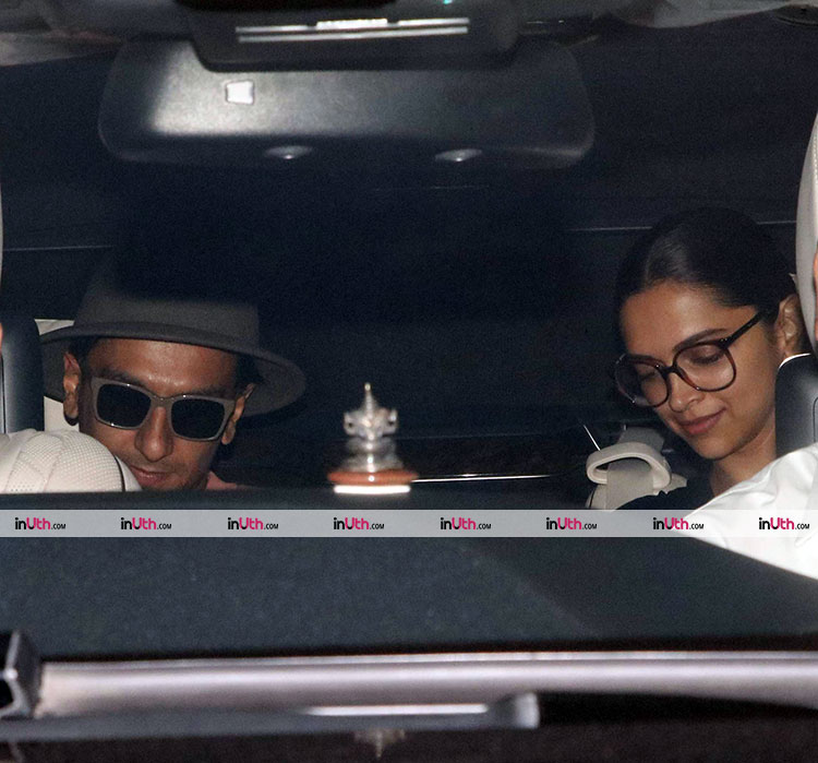 Deepika Padukone and Ranveer Singh visiting Karan Johar on Sunday
