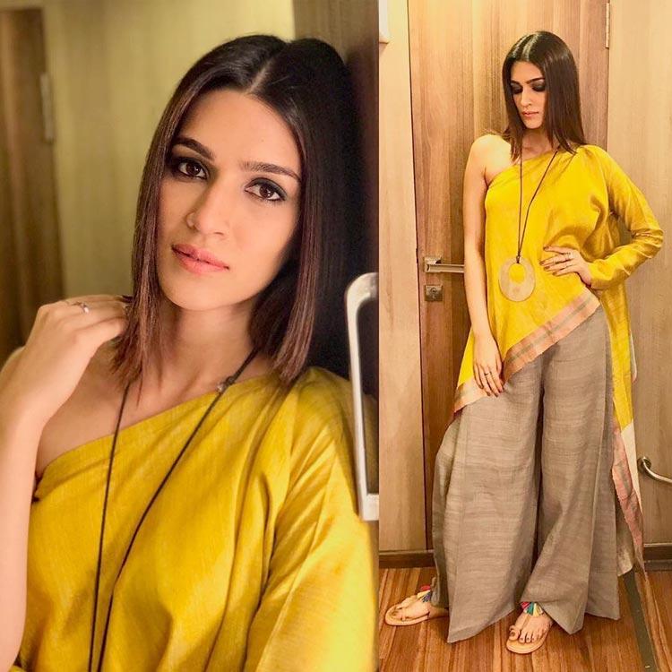Kriti Sanon is being the sunshine of Bareilly Ki Barfi promotions