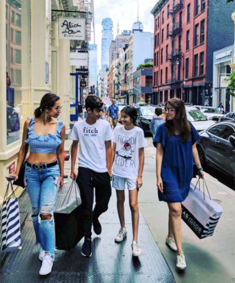 Malaika Arora Khan goes shopping with son in New York