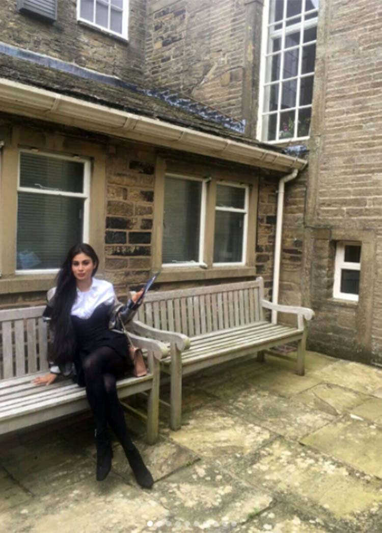 Mouni Roy at the Bronte Parsonage Museum in London