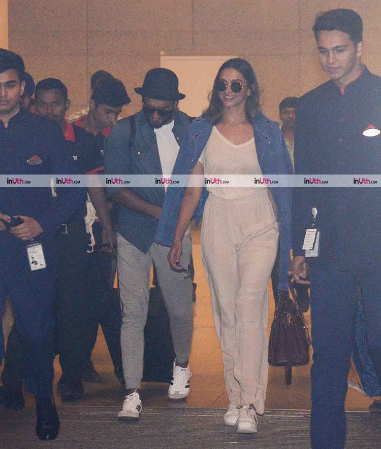 Ranveer Singh and Deepika Padukone at airport on January 7, 2018