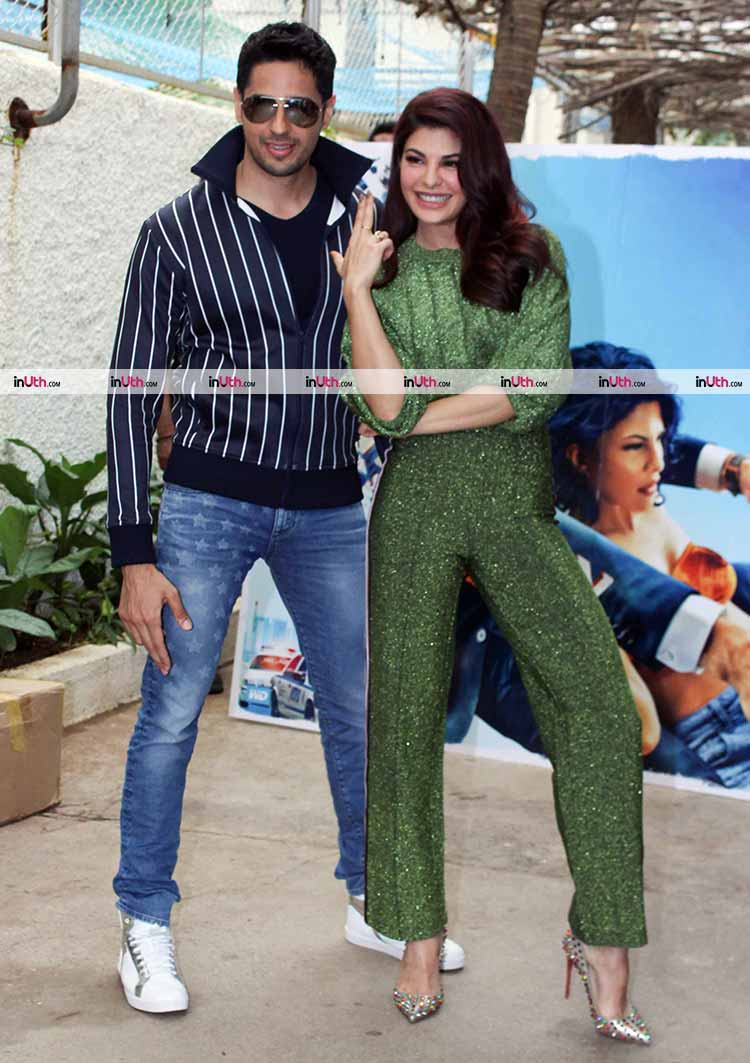Sidharth Malhotra with Jacqueline Fernandez at A Gentleman trailer preview