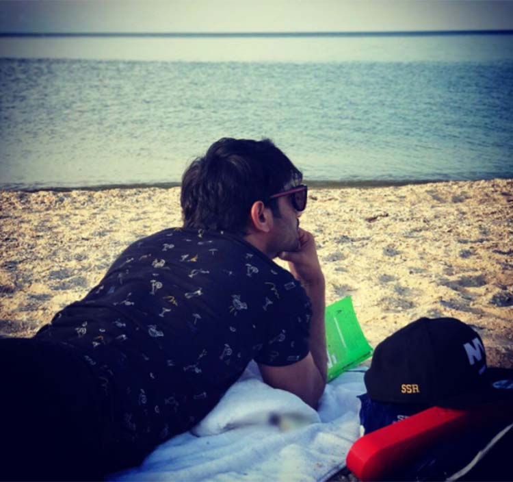 Sushant Singh Rajput chilling by the beach