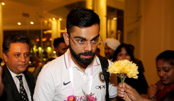 Virat Kohli arrives in Sri Lanka