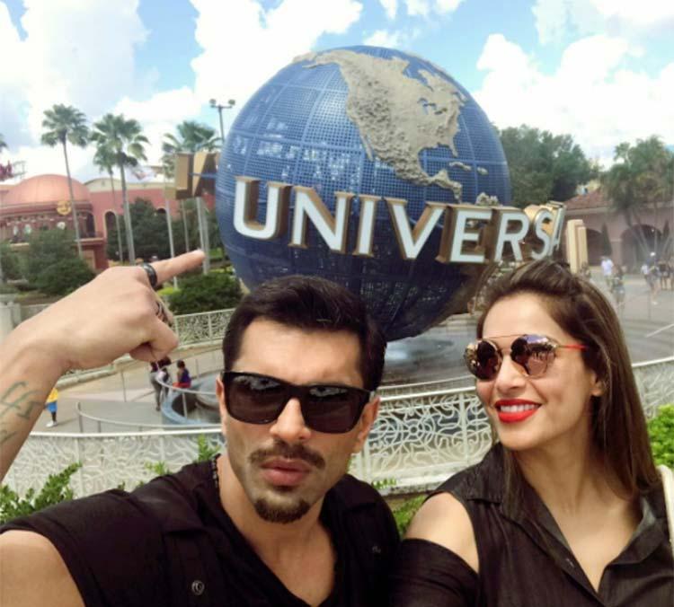 Bipasha Basu and Karan Singh Grover at the Universal Studio