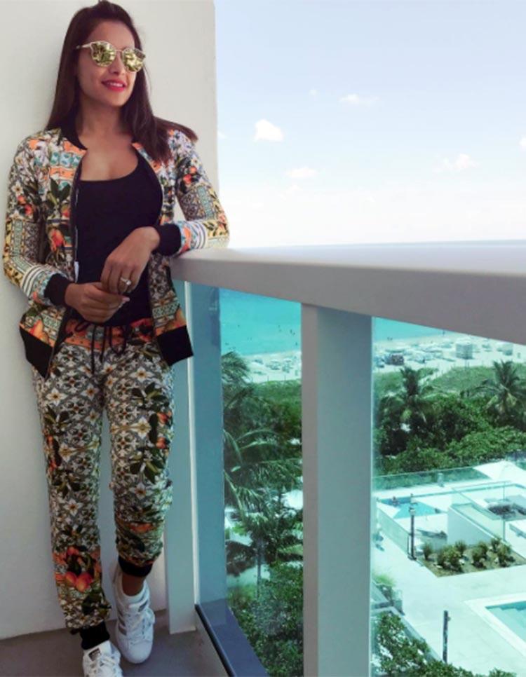 Bipasha Basu's fun look for her Miami vacation