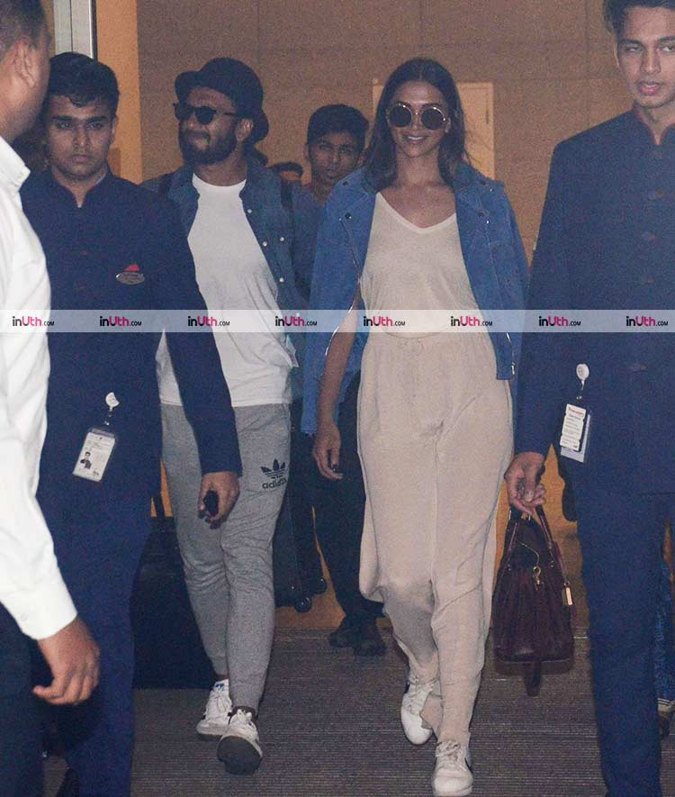 Deepika Padukone and Ranveer Singh snapped at the airport on January 7