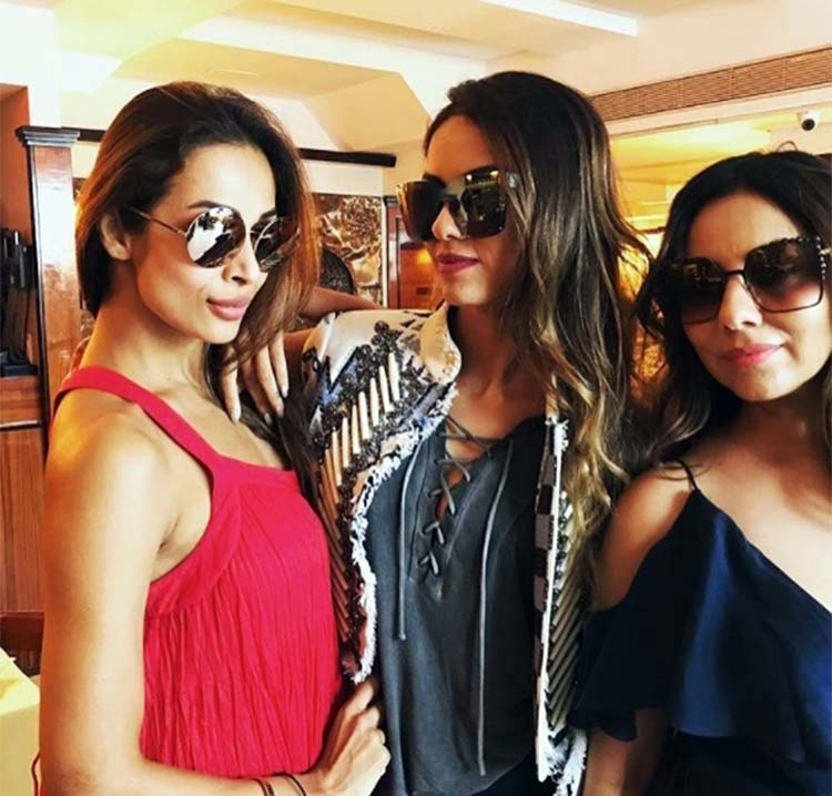 Malaika Arora with Gauri Khan and Natasha Poonawalla