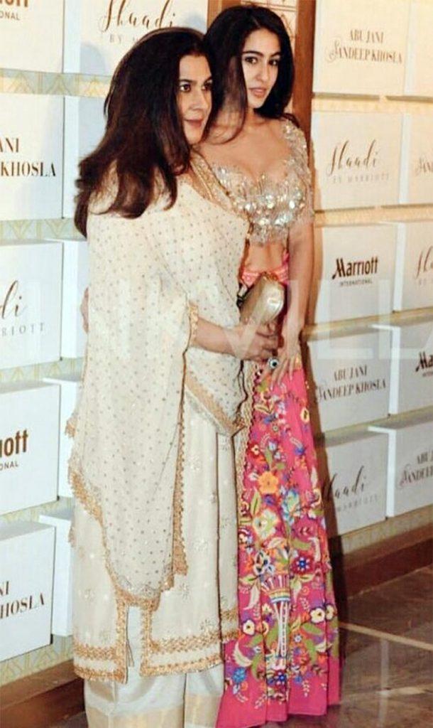 Sara Ali Khan with mother Amrita Singh
