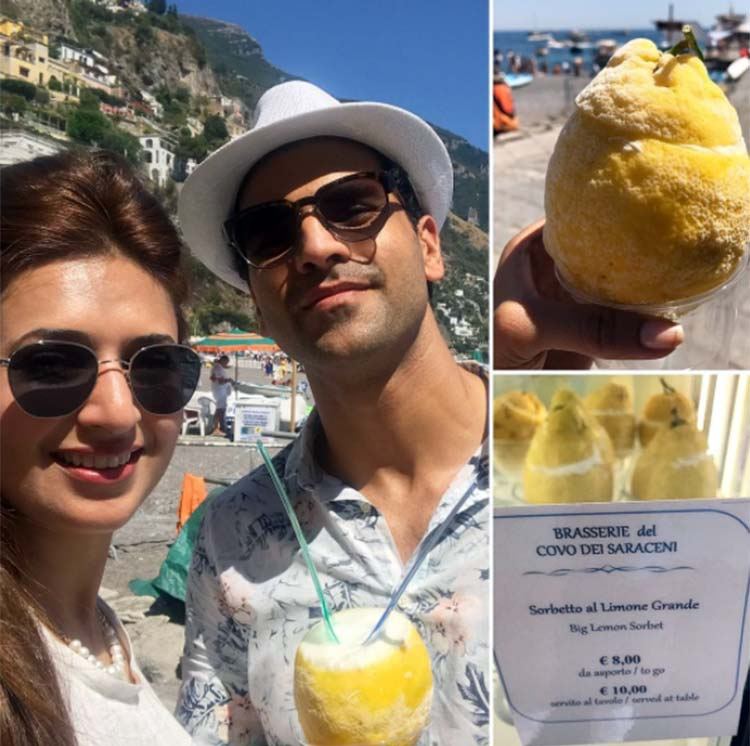 Vivek Dahiya and Divyanka Tripathi at Positano Beach