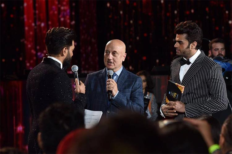Anupam Kher at IIFA Rocks 2017