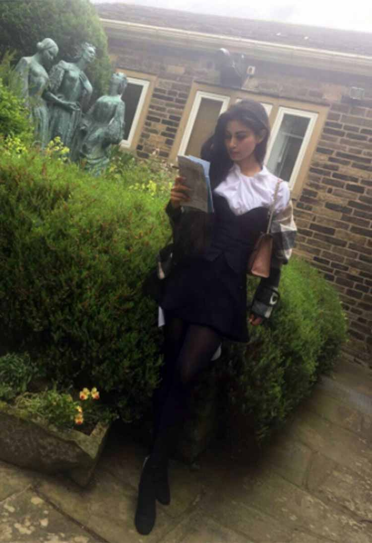 Gold actress Mouni Roy indulges in some reading at Bronte Parsonage Museum