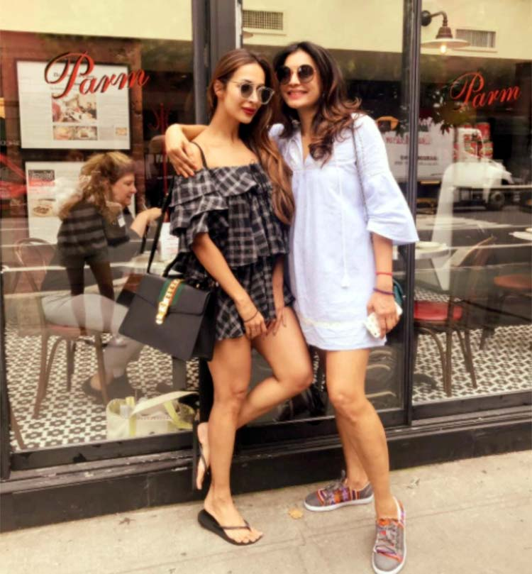 Malaika Arora with her friend Pressy Nathan in New York