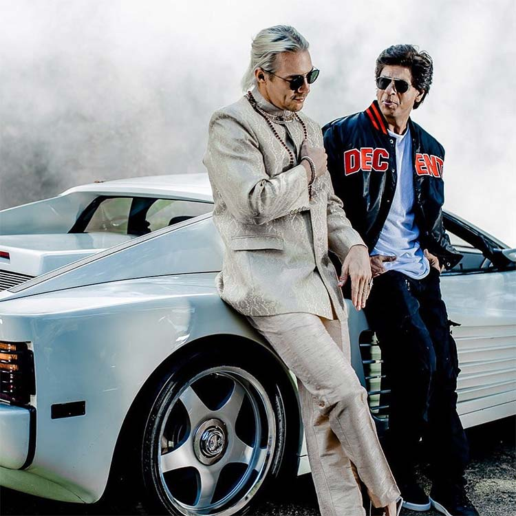 Shah Rukh Khan and DJ Diplo in a still from Phurrr