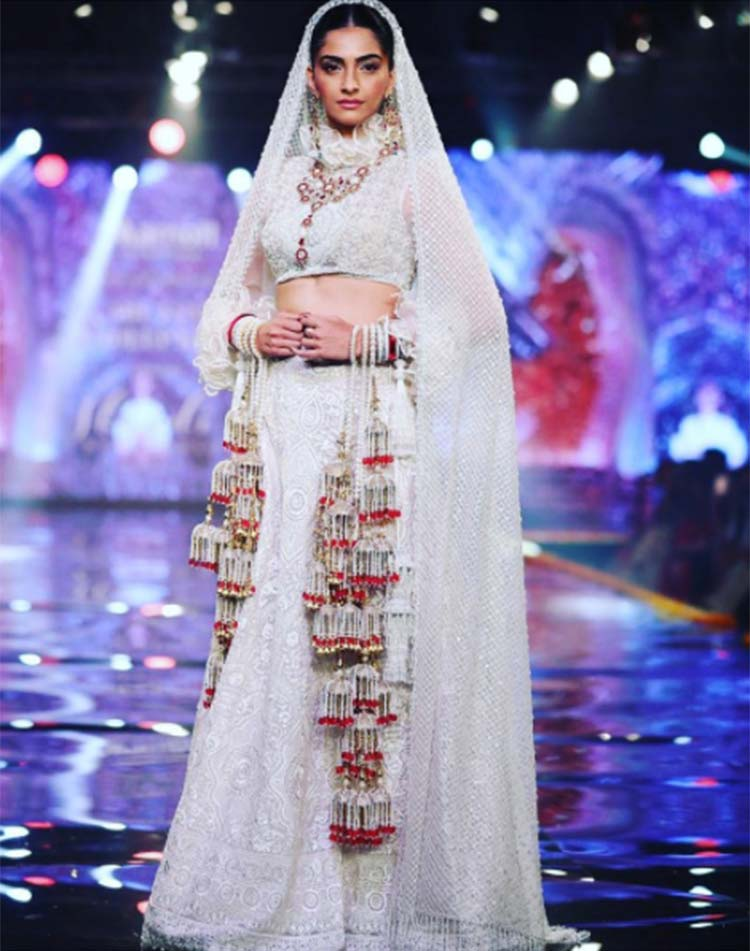 Sonam Kapoor for Abu Jani Sandeep Khosla Bridal Collection