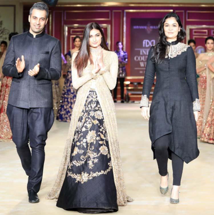 Athiya Shetty with Shyamal and Bhumika at ICW 2017