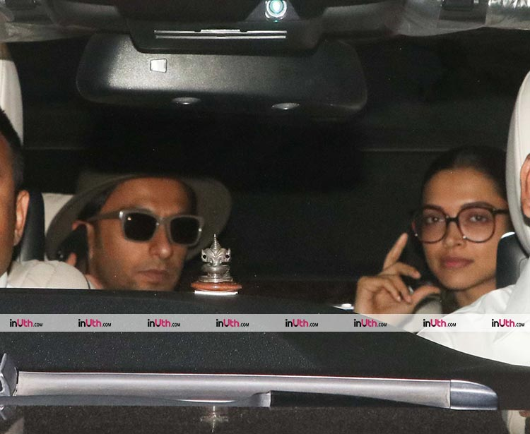 Deepika Padukone and Ranveer Singh met Karan Johar on February 11