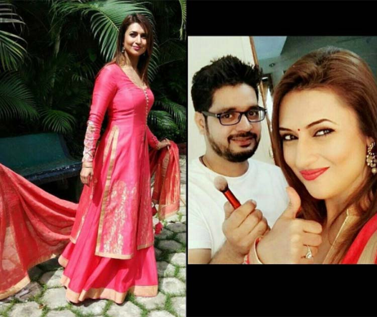 Divyanka Tripathi on Instagram with her makeup artist Manoj Soni