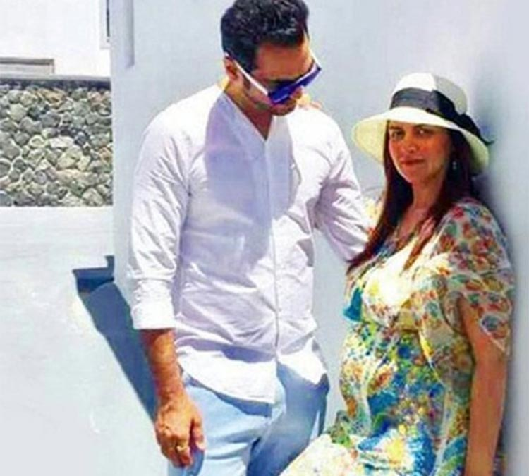 Esha Deol and Bharat Takhtani in Greece