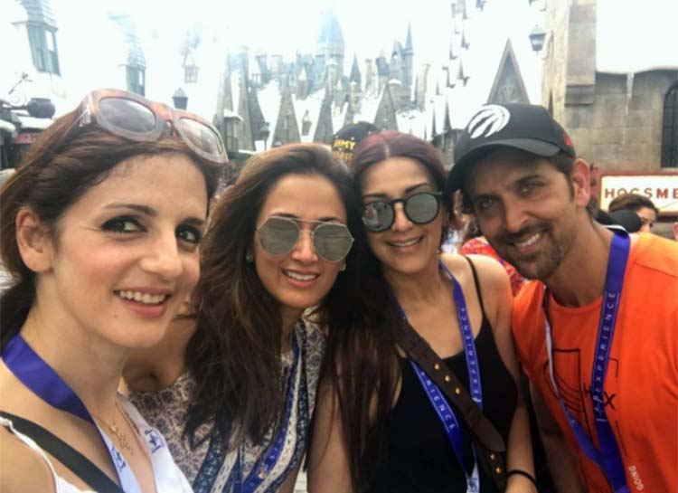 Hrithik Roshan and Sussanne Khan in New York