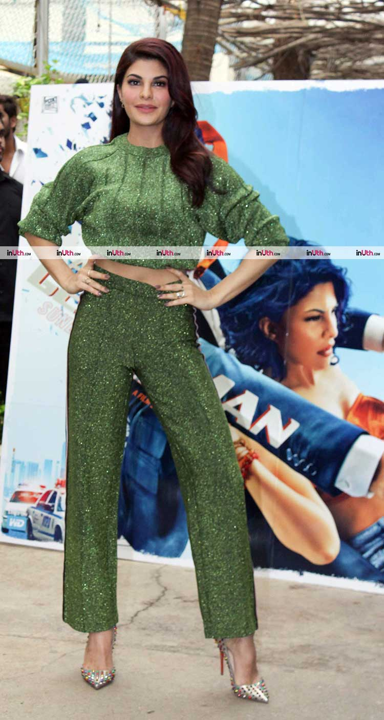 Jacqueline Fernandez at the trailer preview of A Gentleman