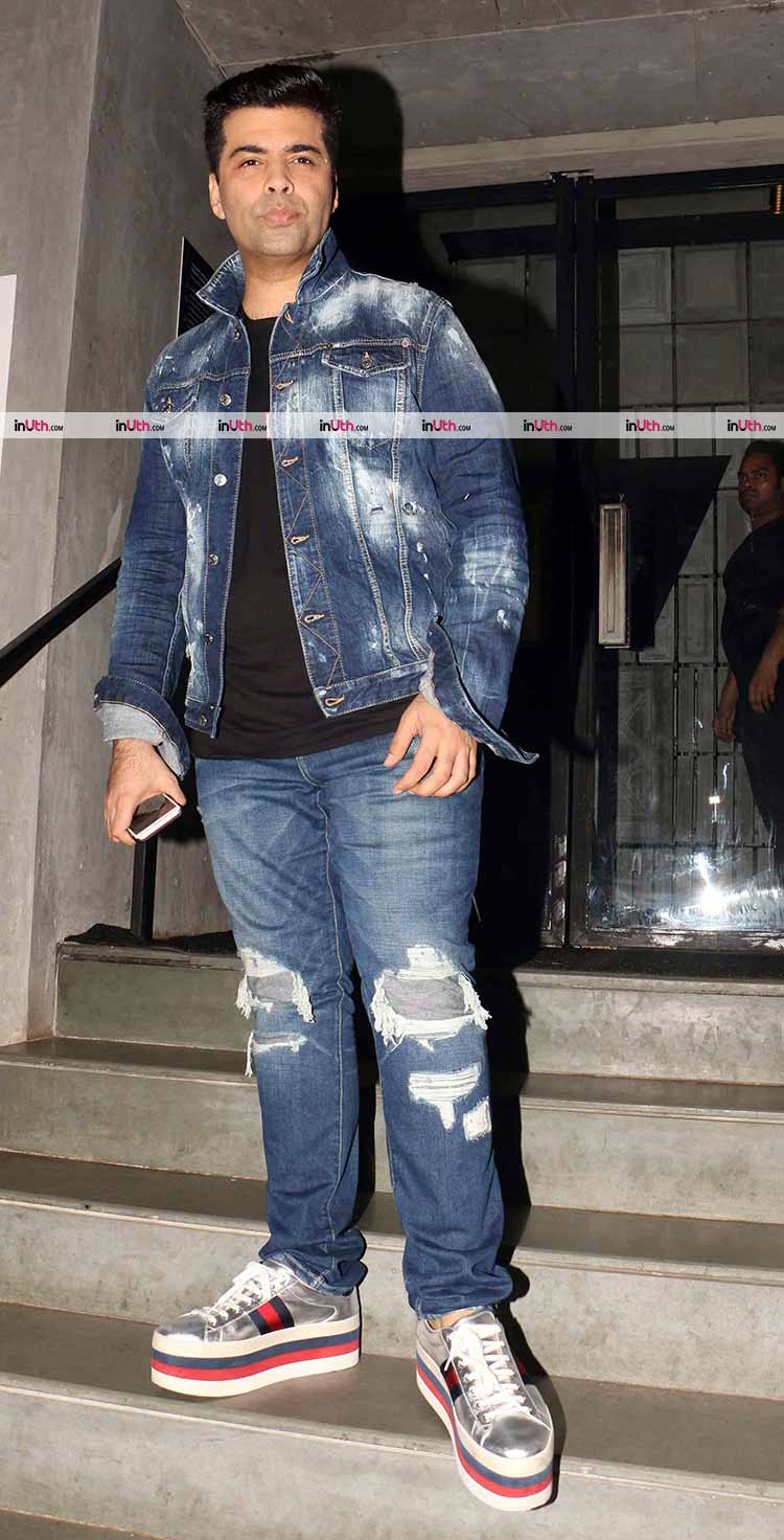 Karan Johar rocks the denim on denim look
