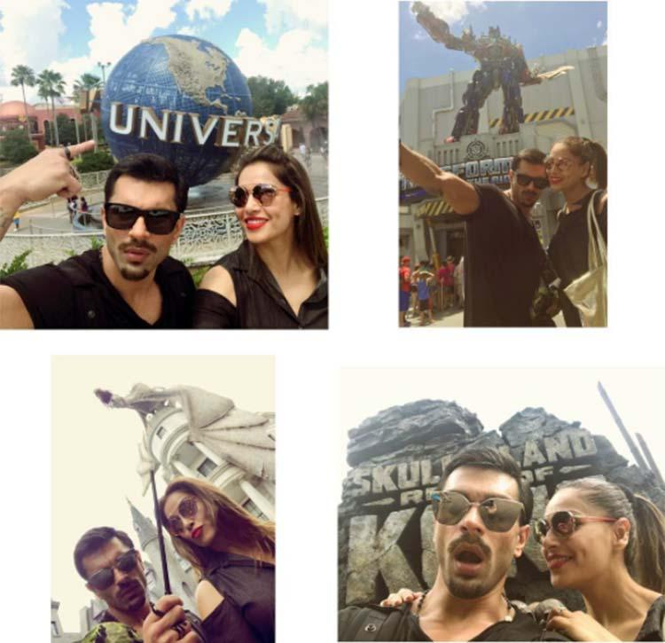 Karan Singh Grover and Bipasha Basu being the cute couple