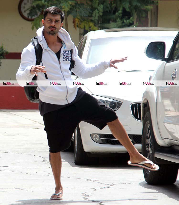 Karan Singh Grover goes fun for the paparazzi