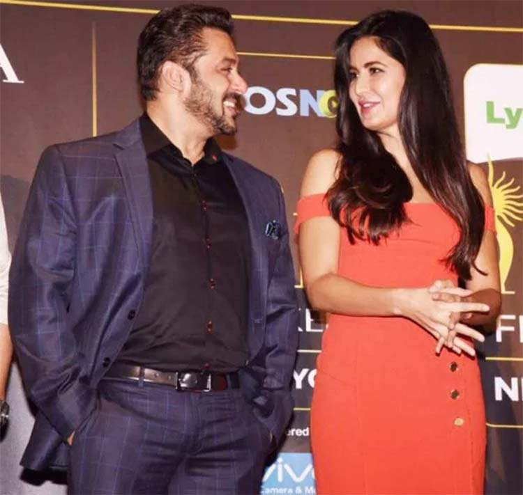 Salman Khan with Katrina Kaif at IIFA film festival 2017 press conference