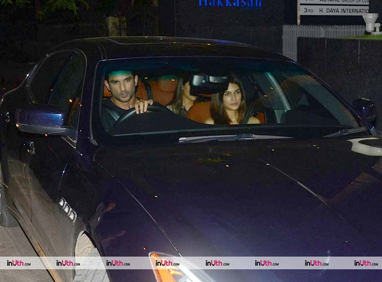Sushant Singh Rajput with Kriti Sanon after a dinner date