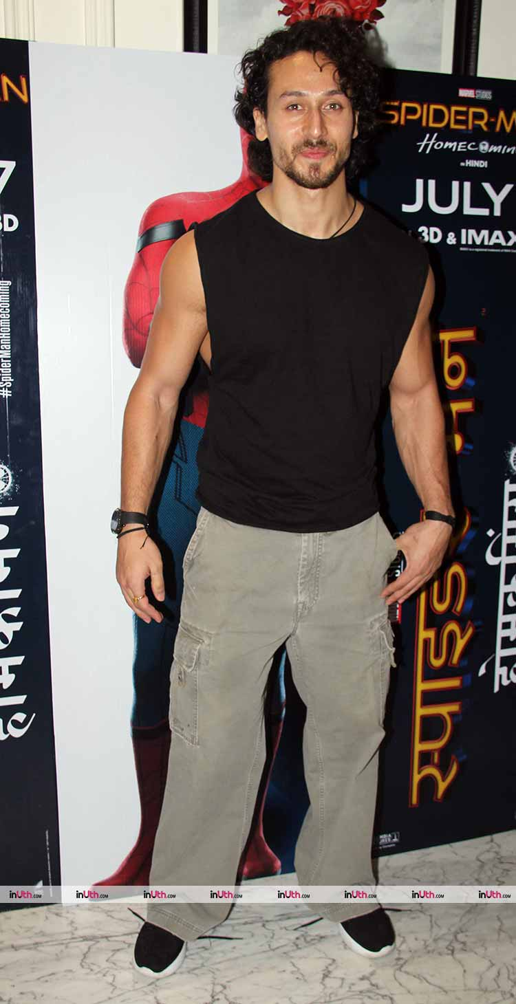 Tiger Shroff at Spider-Man: Homecoming screening
