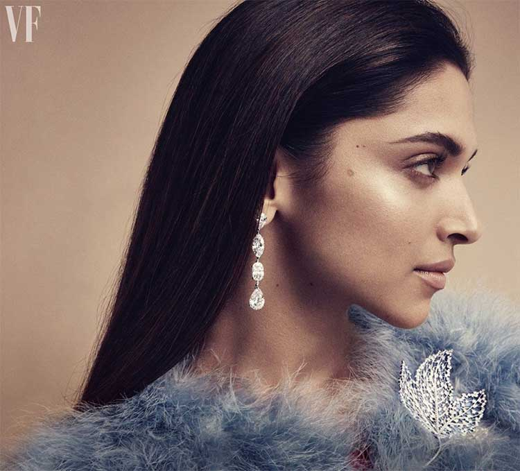 Deepika Padukone in a still from Vanity Fair UK