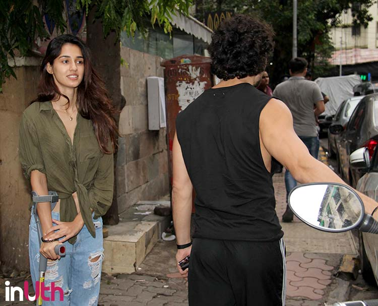 Disha Patani and Tiger Shroff spotted during an outing