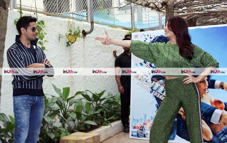 Jacqueline Fernandez points her gun at Sidharth Malhotra at A Gentleman trailer preview