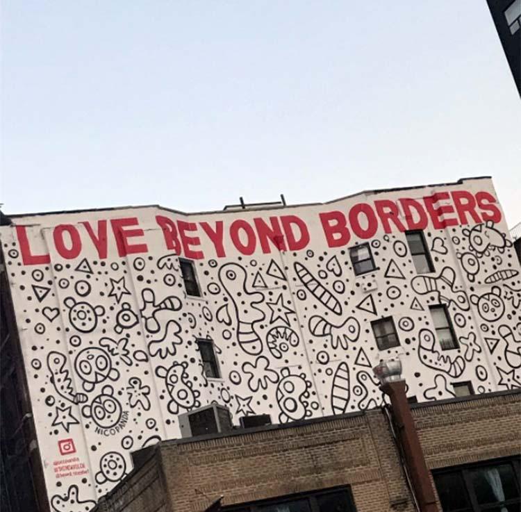 Malaika Arora Khan doing some graffiti spotting in New York