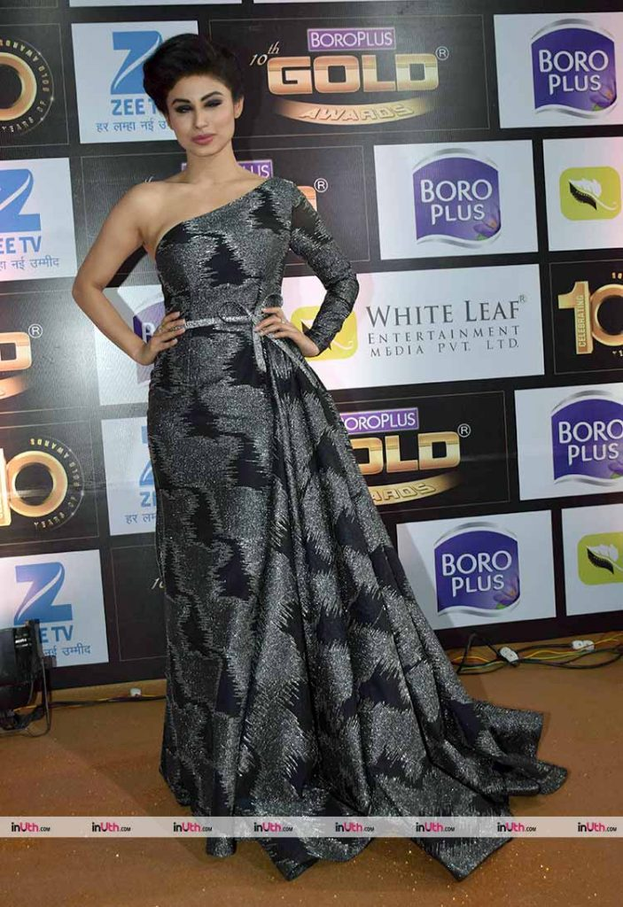 Mouni Roy on the Zee Gold Awards 2017 red carpet