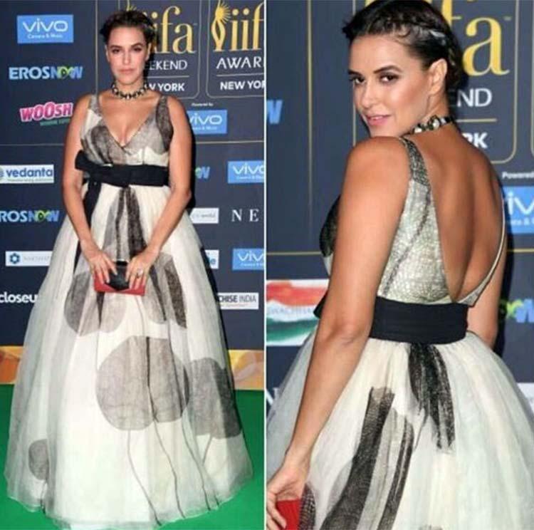 Neha Dhupia in a Sohaya gown at IIFA 2017