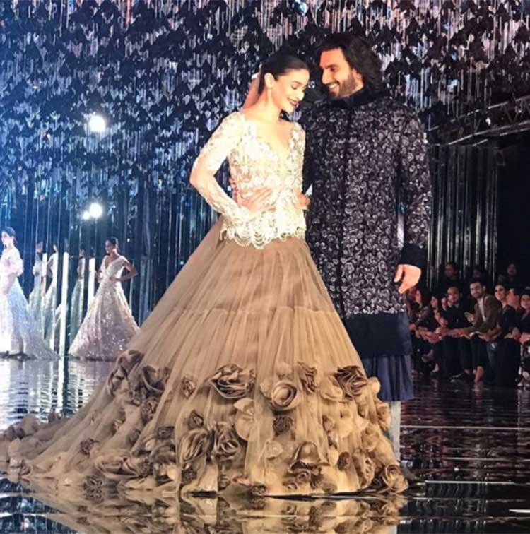 Ranveer Singh and Alia Bhatt at ICW 2017 finale show