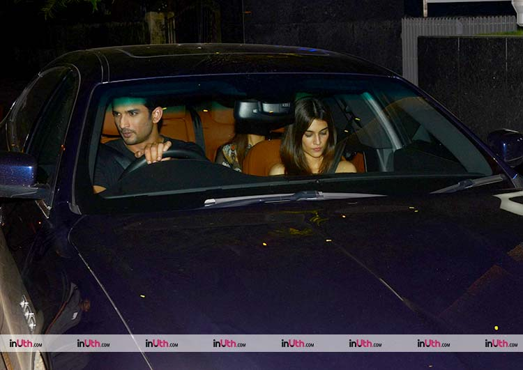Sushant Singh Rajput with rumoured girlfriend Kriti Sanon