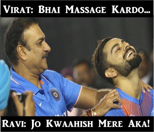 Ravi Shastri-Virat Kohli (Fun Corner)