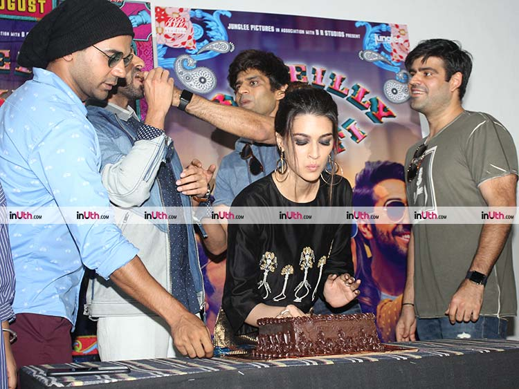 Kriti Sanon snapped during her birthday celebrations at Bareilly Ki Barfi promotions