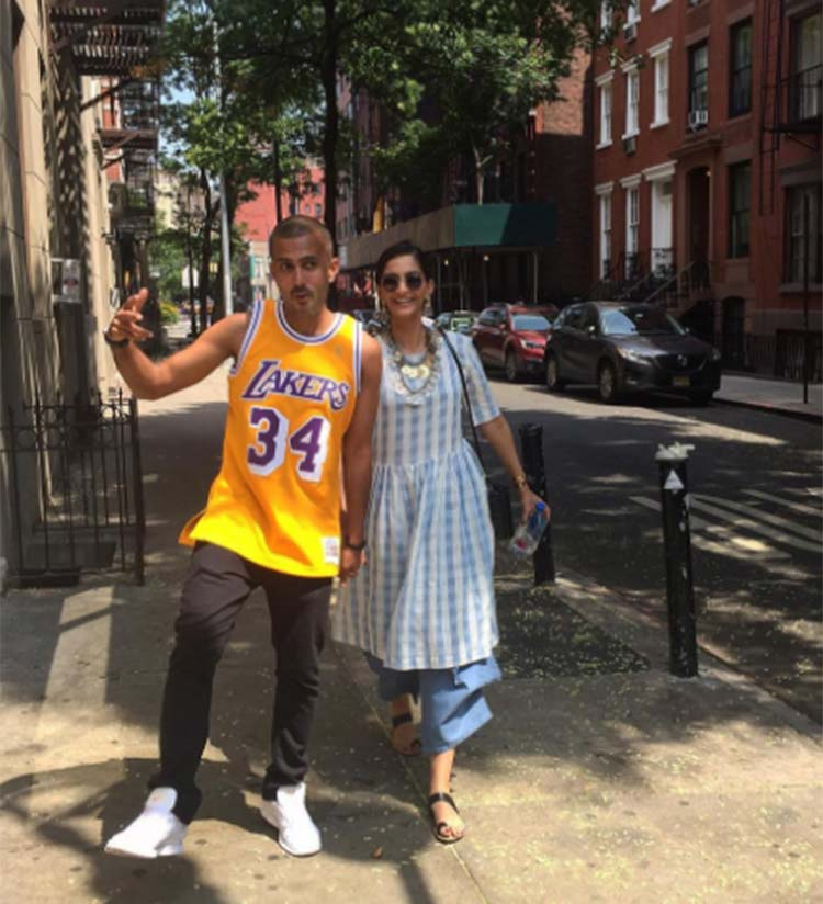 Sonam Kapoor and Anand Ahuja in their hip New York street style
